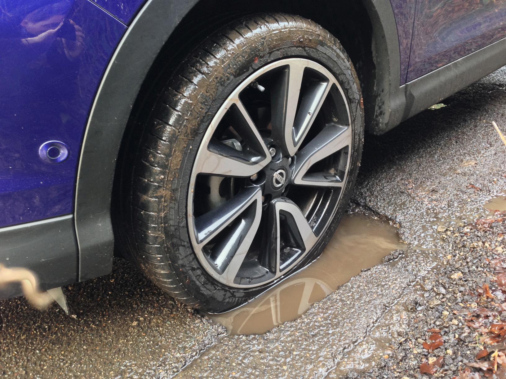 wheel-pothole